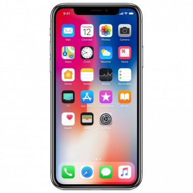 Телефоны и Смартфоны - Apple iPhone X 64Gb Silver серебристый